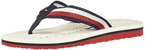 Tommy Hilfiger Mellie 64D, Chanclas Mujer, White, 41 EU
