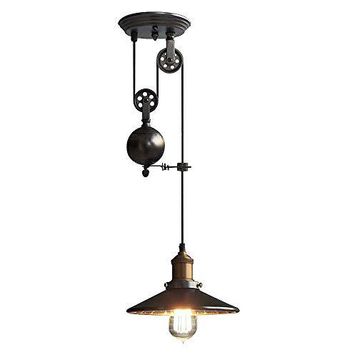Lámpara Colgante Lámpara Colgante Retro Con Poleas De Luz Candelabro Vintage Industrial...