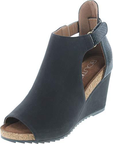 Corkys Footwear Womens Ladies Sunburst Wedge 8 Black