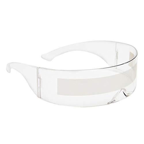 oshhni Gafas de Sol de una Pieza futurista Envolvente Novedad Robocop - Claro