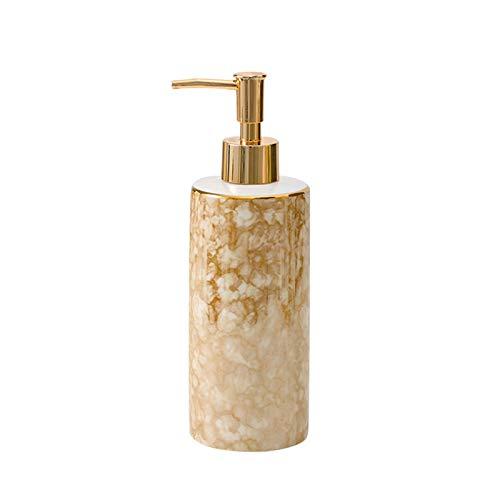 Household Dispensador de Jabón Bomba de dispensador de cerámica de jabón de loción - Baño de recarga Dispensador de jabón de mano, dispensador de ducha de loción con textura única Dispensador de Loció