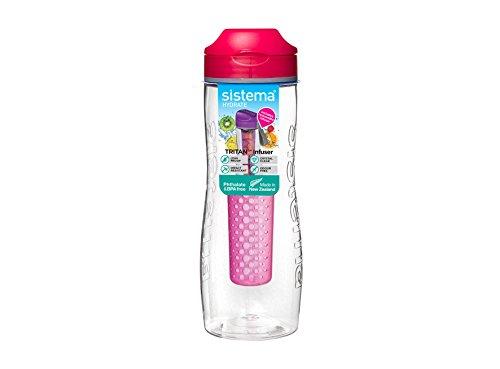 Sistema-Trinkflasche, 800ml., plastik, rose