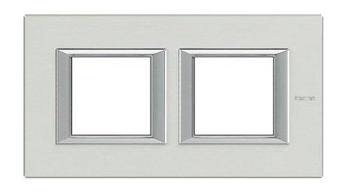 Bticino axolute - Placa 2+2 módulos horizontal aluminio pulido