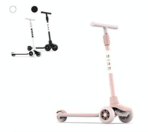 Birdie Patinete Bird Kick para niños, 3 ruedas, mango de altura ajustable,...