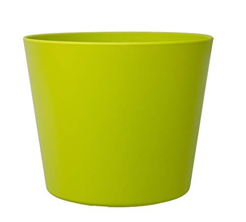 LENI P 0839AG Flori 24 - Maceta (24 cm de diámetro, 22 cm), Color Verde Mate