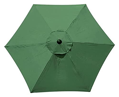 Paño de repuesto para sombrilla 2,7 M Garden Parasol Tapa de la cubierta para el paraguas del sol del patio, tela de reemplazo del sol paraguas, mesa de paraguas de la mesa de paraguas Black Black, 6
