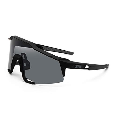 Deportes Polarizados Ciclismo Gafas De Sol Coloridas, Bicicletas Gafas De Sol A Prueba De Viento, para Deportes Al Aire Libre Correr Béisbol Golf Conducir,Negro