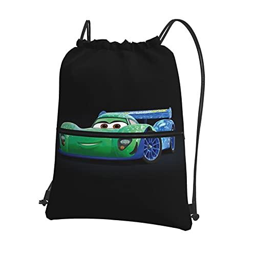 Disney Cars Lightning McQueen Mochila con cordón elegante para la escuela, bolsa de viaje clásica