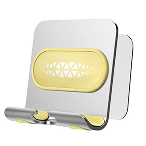 Gesh Soporte de pared universal para teléfono móvil, soporte de pared para baño, inodoro tipo D