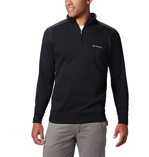 Columbia Men's Hart Mountain II Half Zip Jacket, Black, X-Large