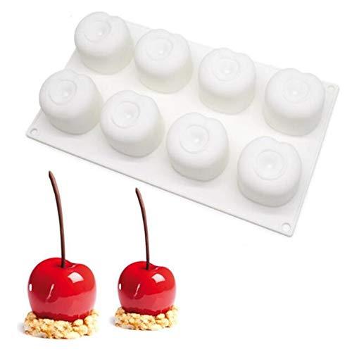Moules à gâteau en silicone en forme de fruits en forme de souris en forme de pomme, orange, pêche, chocolat, moule à muffins, moule à gâteau, moule à gâteau, outils de décoration de gâteau cerise