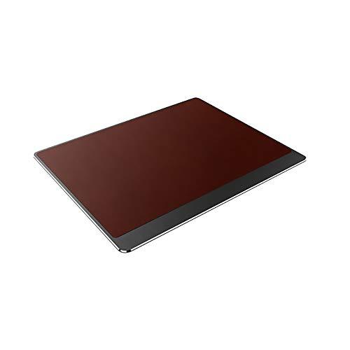 SKRCOOL Aluminium muismat, gemakkelijk te reinigen waterdichte Mosue Food,Gaming muismat met leer, niet-slip Dual-gebruikte mat, gemakkelijk te bedienen