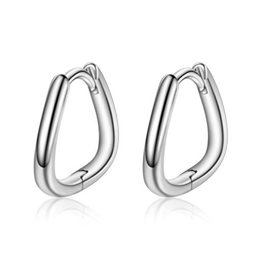 Pendientes de aro Rapidly de plata 925 para mujer, para hombre, diámetro de 14 mm, pequeños pendientes de anillo, en caja de regalo