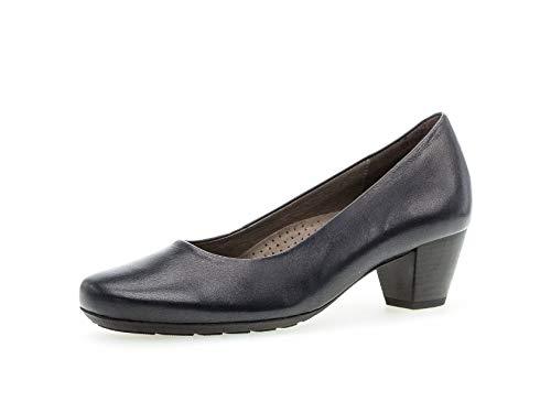 Gabor Damen Pumps, Frauen Klassische Pumps,Comfort-Mehrweite, geschäftsreise geschäftlich büro Court-Shoes Absatzschuhe Damen,Ocean,37.5 EU / 4.5 UK