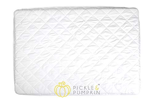 Pickle & Pumpkin Waterproof Pack N Play Mattress Cover | Soft & Fitted Mini Crib Mattress Protector Waterproof for Graco Pack N Play Mattress, Playard, Portable Crib, Playpen Mattress - 1 Pack