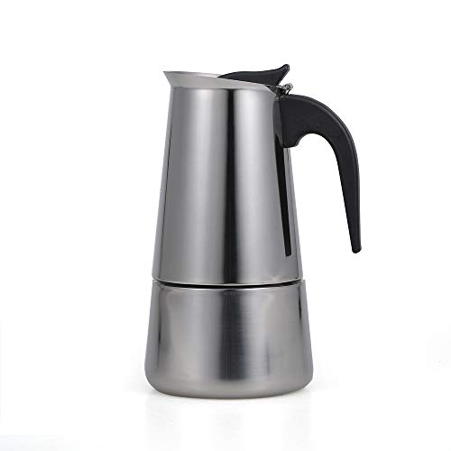 Festnight Stainless Steel Induction Stovetop Espresso Maker, 100-450ml Percolator - Make Cafe Quality Italian Style Coffee at Home with This Premium Moka Pot in Modern Chrome, 2-9 Flavorful Cups