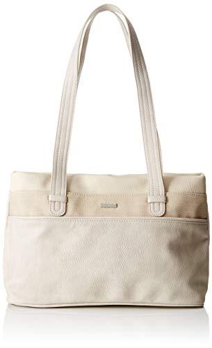 Tamaris Damen Khema Shoulder Bag Schultertasche, Beige (Pepper Comb), 10.5x22x32.5 cm