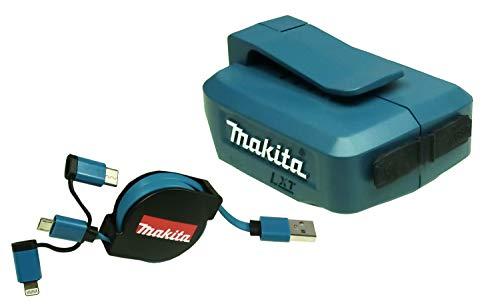 Makita ADP 05 Akku-USB-Adapter 2 x USB für 14,4 V und 18 V Akkus + USB Kabel