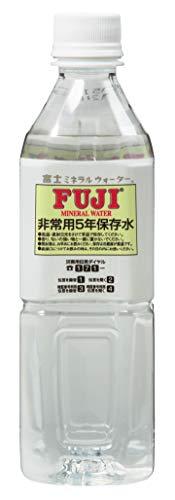 『富士ミネラルウォーター 非常用5年保存水 (ペット) 500ml×24本』のトップ画像