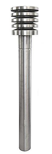 Intelmann Ansaugturm aus Edelstahl DN 110 2-teilig Glattrohr 1000 mm mit Lamellenhaube