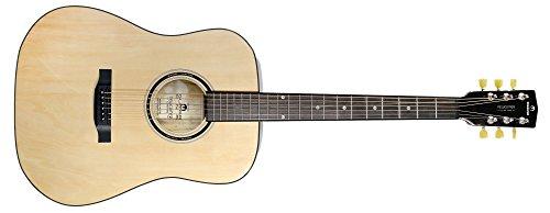 Einsteigergitarre Tronical Newcomer - Selbststimmend, hochwertige Mechaniken, Saitennamen um das Schalloch für noch besseres Lernen - die perfekte Gitarre für Beginner