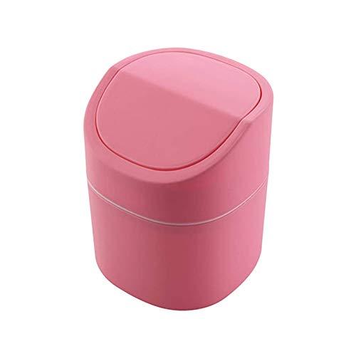Maorr Mini Bin, Papel de desechos, Organizador de escritorio, Encimera, Oficina, Teladores, Basura Limpiar Bote de basura Sala de estar con Tapa Cenicero Mini Desktop Home Storage Cubo de almacenamien