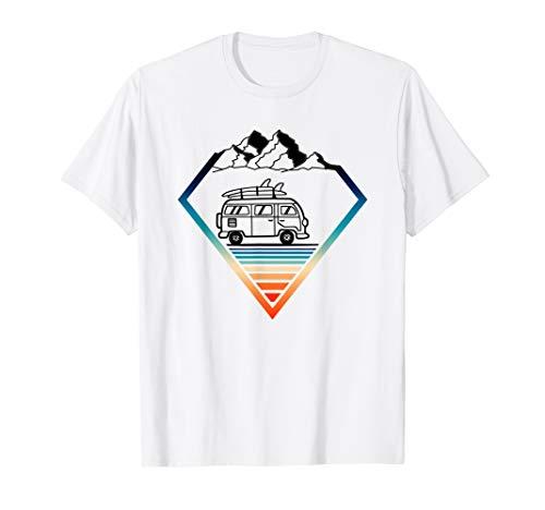 Surfer Bus | Surfbrett Wellenreiten und Hippie Bus T-Shirt