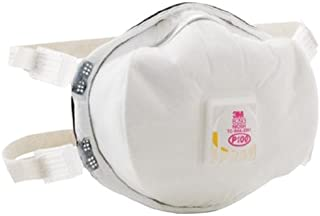 3M 8293 P100 Disposable Particulate Cup Respirator with Cool Flow Exhalation Valve, Standard (Case 20)