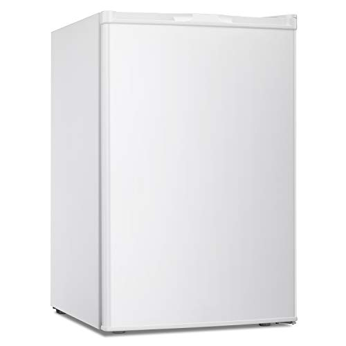 3.0 CU.FT Upright Freezer Convertible Deep Capacity Frost Free Quick Freeze Function Refrigerator Low Noise Compact Refrigerators White (White-3.0cu.ft)
