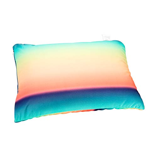 Fabskiy Squishy Neck Microbead Throw Pillow, 16 x 12 inches Soft Travel Body Bed Pillow Odorless Bean Pillow for Kids Adult Chair Sleeping Car Seat (Spectral Skies, Standard)