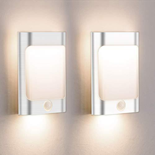 Lampara De Pasillos Luz Noche Con Luz Sensor Lámparas De Escalera USB Rechargeable Lámparas De Pared Blancas