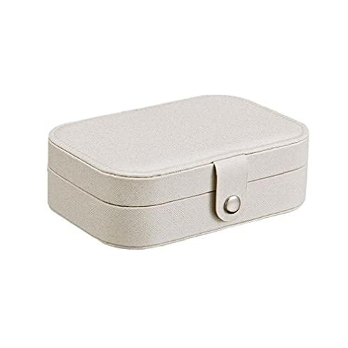 Caja De Almacenamiento Caja De Recuerdo Para Los Viajes Collar De Anillos Aretes Portable De La Joyería Organizador Del Caso De Exhibición De Almacenamiento Con Compartimento Organizador Para Las