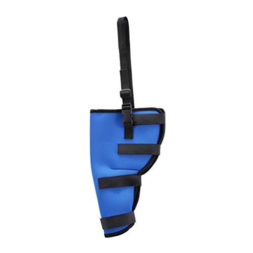 F Fityle 1 Stück Hunde Beinschutz Gelenkschutz Bandage - Rechtes Hinterbein-Blau, L