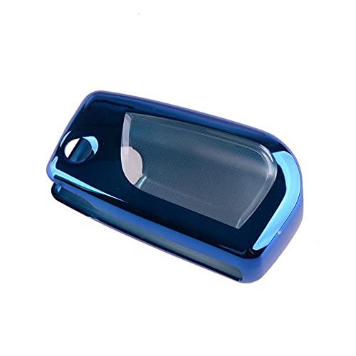 YFQH Coche Azul Suave TPU Flip Key Case Shell Protector Cover Fit para Toyota Camry C-HR RAV4 Corolla Hatchback Corolla Sedan 2020