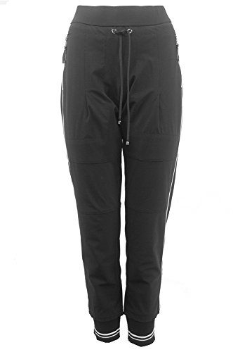 Raffaello Rossi Damen Jogpants Candy Pipe, Farbe:schwarz, Größe:44