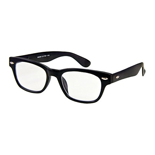 I NEED YOU Lesebrille Woody / +2.50 Dioptrien/Schwarz, 1er Pack