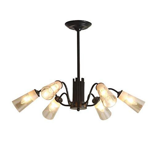 Hanglamp van glas industrieel design lampenkap Loft zwart hanglamp woonkamer industrie eettafel kroonluchter Loft bar cafeteria decoratieve verlichting d
