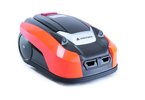 Yard Force YardForce X100i Mähroboter mit App-Steuerung - Selbstfahrender Rasenmäher Roboter mit Multizonen-Programm - Akku Rasenroboter für bis zu 1000 m² Rasen & 40% Steigung, 28 V, schwarz/orange - 5