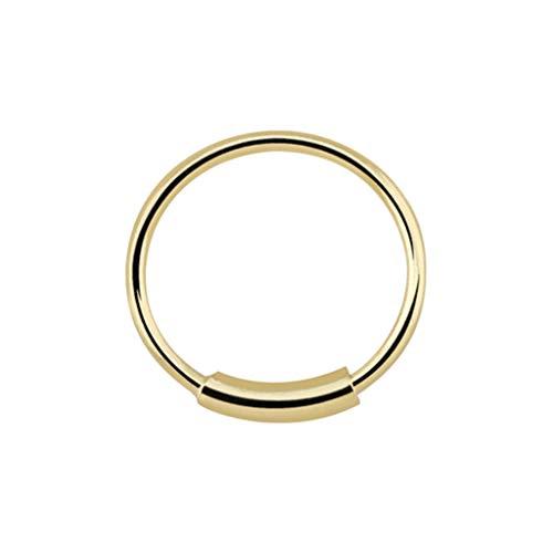 Nasenring 14K reines Gold - Nasen-Piercing 14 Karat - Dicke: 0,6mm / Durchmesser: 8mm - Klassisch - Nickelfrei Allergiker-geeignet