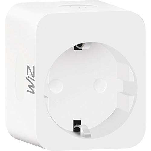 WiZ - Enchufe inteligente con wifi (10 A, para lámpara o electrodoméstico, control de encendido/apagado a través de smartphone o Voice IP 20, GoogleAssistant Alexa Siri