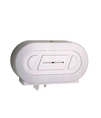 "Bobrick 2892 ClassicSeries 304 Stainless Steel Surface-Mounted Twin Jumbo-Roll Toilet Tissue Dispenser, Satin Finish, 20-1316"" Width x 11-3/8"" Height x 5-5/16"" Depth"