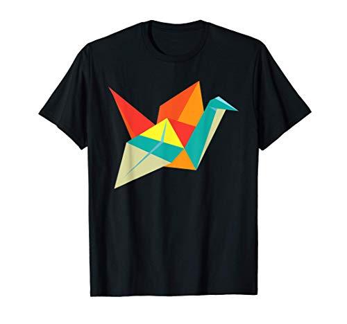 Cultura Japonesa Regalo Grulla De Papel Colorido Origami Camiseta