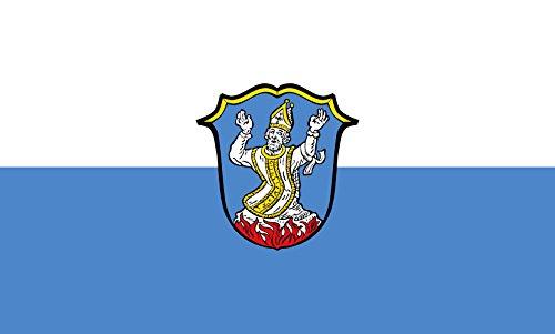 Unbekannt magFlags Tisch-Fahne/Tisch-Flagge: Irschenberg 15x25cm inkl. Tisch-Ständer