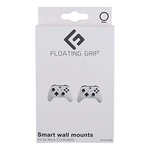 FLOATING GRIP Wall mounts for 2x PlayStation (PS5/PS4/PS3) Controllers | White ropes | Display your PlayStation Controllers on the wall in the super slim and smart Wall Mounts by FLOATING GRIP