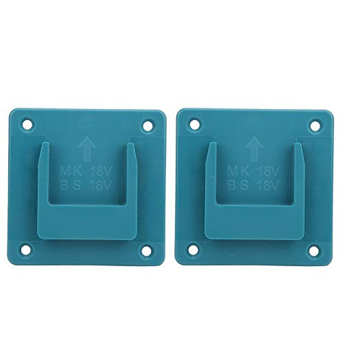 Conkergo 2Pcs Machine Holder Wall Mount Storage Bracket Fixing Devices for Makita 18V Electric Tool(Cyan)