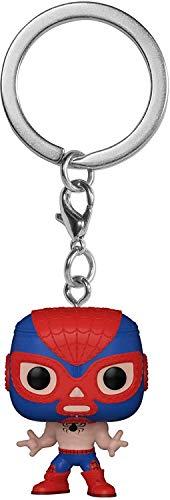 Funko- Pop Keychain Marvel Luchadores Spider-Man Juguete coleccionable, Multicolor (53890)