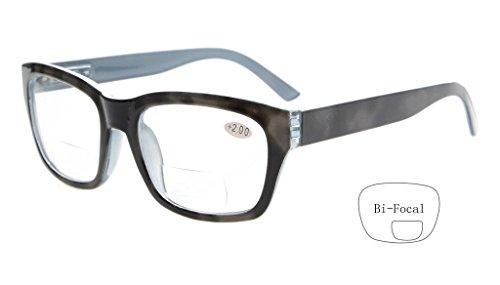 Eyekepper Polycarbonat Grosse Linse unsichtbare Linie Bifocal Brille Leser Maenner +2.0