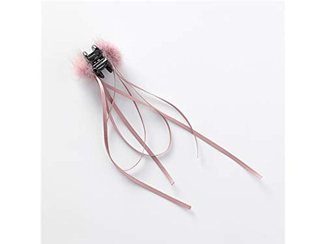 トムオードリース回復する法医学Osize 美しいスタイル ボウヘアクリップレトロヘアアクセサリーサイドクリップリボンヘアボールクロークリップ(ピンク)