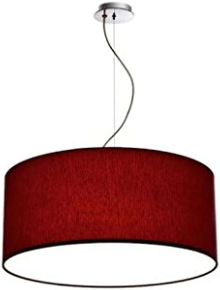 Olux,lampadario a sospensione in tessuto moderno OL_ROARYLS_50_BORDEAUX