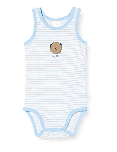 Schiesser Baby-Jungen Body 0/0 Strampler, Blau (hellblau 805), 74 (Herstellergröße:074)